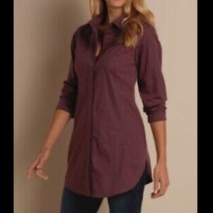Soft Surroundings long sleeve tunic top burgundy